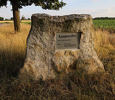 Gedenkstein Langweiler
